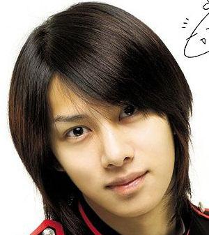 韩国男士长头发发型图片