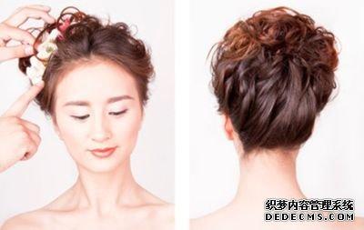 韩版新娘盘头发型 新娘长发盘发发型(4)图片