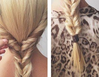 马尾辫子的编法 女人新潮编发马尾辫发型扎发步骤(3)