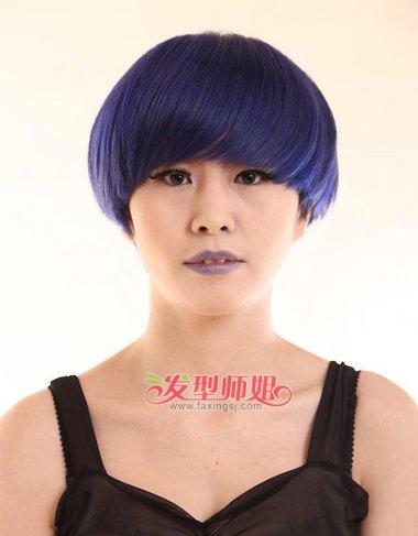 胖人符合的短发发型 胖女沙宣短发发型图片(2)图片