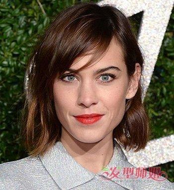 长方脸女星短发发型 长方脸型适合的短发发型图片