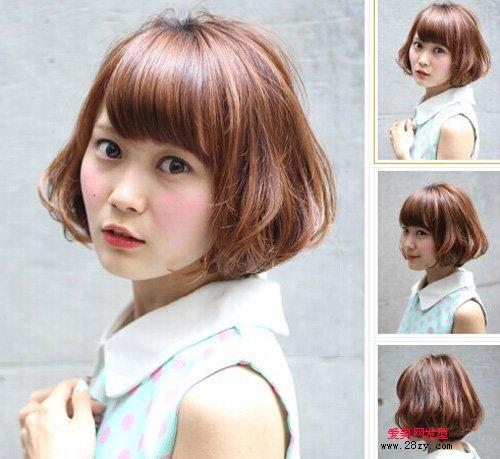 漂亮短发内扣梨花头发型图片[12p](6)图片
